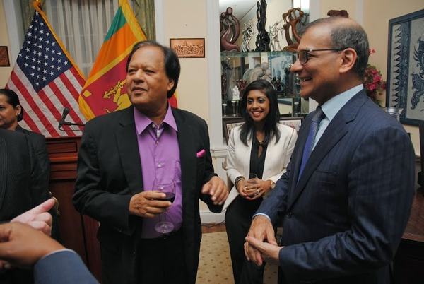 Minister Amunugama with guests