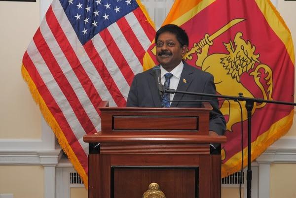 Ambassador Wickramsuriya addressing the gathering